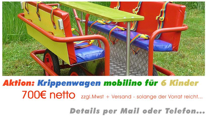 Unsere Aktion: mobilino Krippenwagen für nur 700€ - solange der Vorrat reicht!